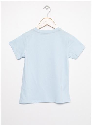 Limon Company Limon Açık Mavi Yazı Baskılı Erkek Çocuk T-Shirt Mavi
